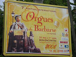 Affiche ORGUES BARBARIE Agen mai 2008